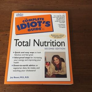The Complete Idiot's Guide To Total Nutrition Book